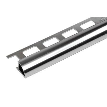 8-foot Polished Chrome Finish Aluminum Round Edge Tile Trim (Set of 10)