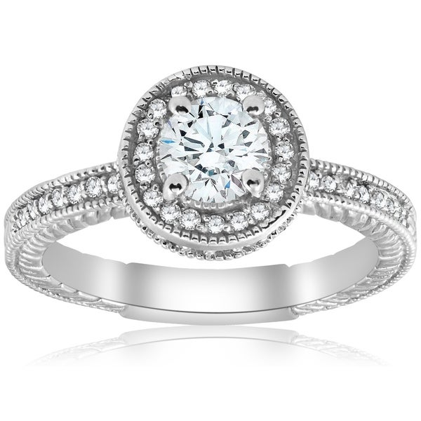 Shop Bliss 14K White Gold 1 Ct TDW Diamond Clarity