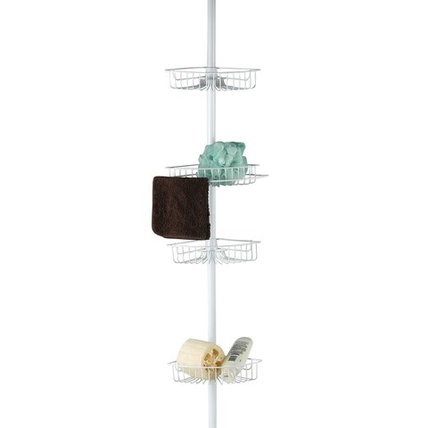 Sweet Home Collection 4 Tier Corner Caddy (White)
