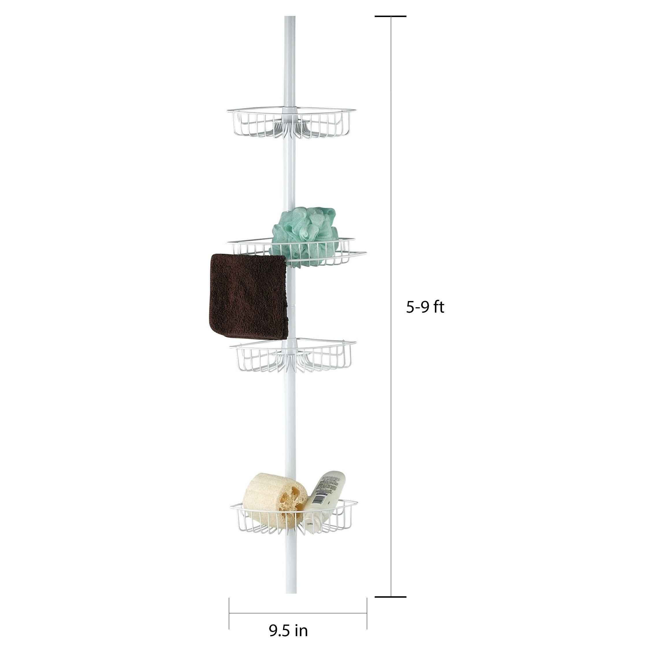 Sweet Home Collection 4 Tier Corner Caddy White