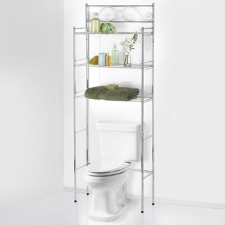 Sweet Home Collection Bathroom Space Saver (Chrome)