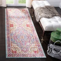 Safavieh Sutton Medallion Aqua / Multi Runner Rug - 3' x 8'