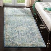 Safavieh Couture Sutton Vintage Blue Wool Rug (3' x 8')