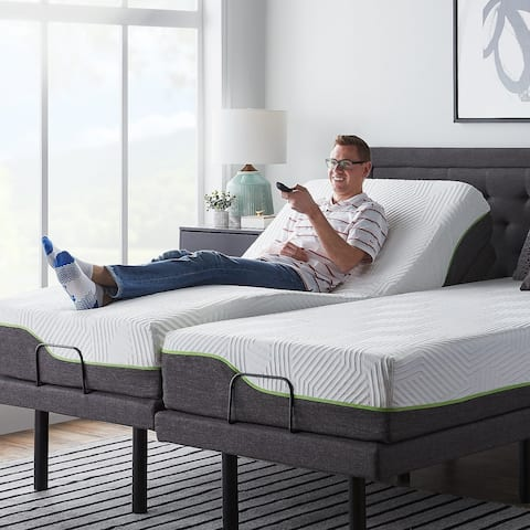 LUCID Comfort Collection 12 Inch Queen Size Premium Support Memory Foam Mattress With L300