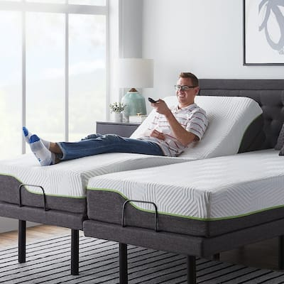 12-inch Premium Support Memory Foam Mattress and L300 Adjustable Bed Set by Lucid Comfort Collection