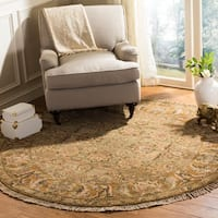 Safavieh Couture Hand-Knotted Old World Vintage Light Green / Gold Wool Rug - 6' Round