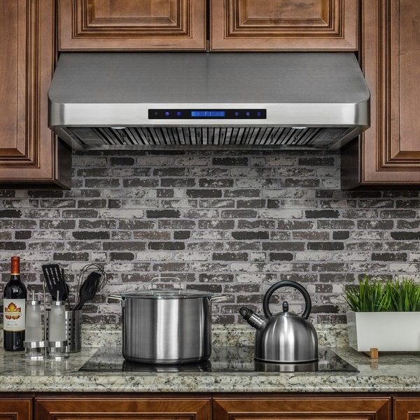 """Golden Vantage RH0247 36"""" Stainless Steel Under Cabinet Range Hood Touch Panel Kitchen Cooking Fan with Remote"""
