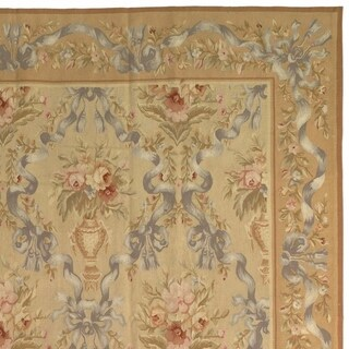 Safavieh Couture Hand-Woven Aubusson French Country Beige / Multi Wool Rug - 12' x 15'
