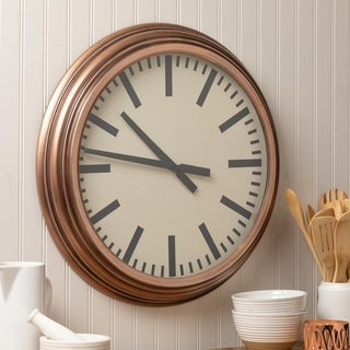 Carson Carrington Vardo 22.5-inch Diameter Round Metal Wall Clock