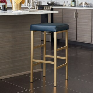 OSP Home Furnishings 30 inch Gold Backless Bar Stool