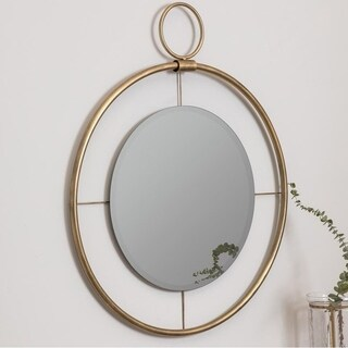 Ena Gold Round Wall Mirror