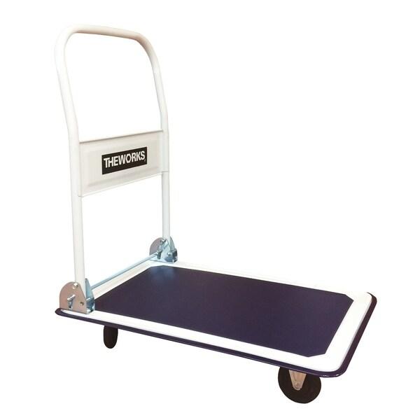 THEWORKS 330 lb. Capacity Folding Platform Cart - Blue/White