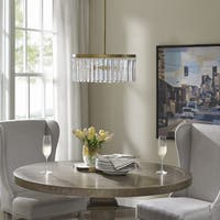 Madison Park Crystal Clear/ Gold Pendant