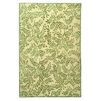 Safavieh Couture Hand-Knotted Contemporary Green / Ivory Silk & Wool Rug - 9' x 12'