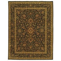 Safavieh Couture Hand-Knotted Haj Jalili Traditional Brown / Brown Wool Rug - 9' x 12'