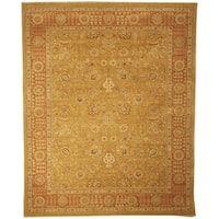 Safavieh Couture Hand-Knotted Haj Jalili Traditional Gold / Rust Wool Rug - 9' x 12'