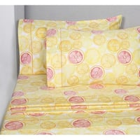 Printed Design Cotton Collection 400 Thread Count Lemon Lime Sheet Set