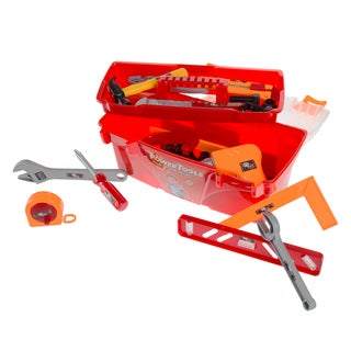 Hey! Play! Toy Tool Box Set-Pretend Play Construction Set - 40 Pieces