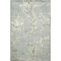 Safavieh Couture Hand-Knotted Contemporary Ocean Wool & Viscose Rug - 6' x 9'