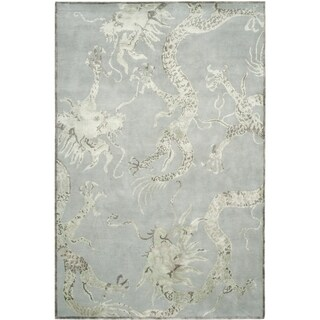 Safavieh Couture Hand-Knotted Contemporary Ocean Wool & Viscose Rug (6' x 9')