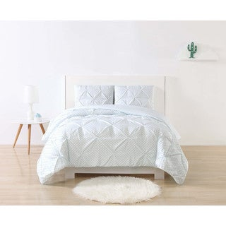 Laura Hart Kids Dot Printed Pleat 3-piece Comforter Set