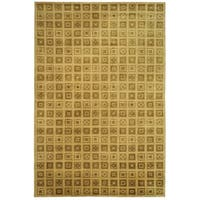 Safavieh Couture Hand-Knotted Contemporary Amber Wool & Silk Rug - 6' x 9'