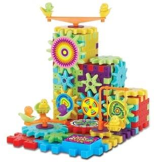 Gears! Gears! Piece Super Building Set 81-Piece Set: IQ Builder Interlocking Gears & Blocks Learning Toy