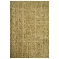 Safavieh Couture Hand-Knotted Contemporary Gold Wool & Silk Rug - 6' x 9'