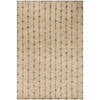 Safavieh Couture Hand-Knotted Contemporary Indigo Sand Wool & Silk Rug - 6' x 9'