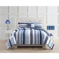 Laura Hart Kids Mason Stripe Comforter Set with Bonus Decorative Pillow