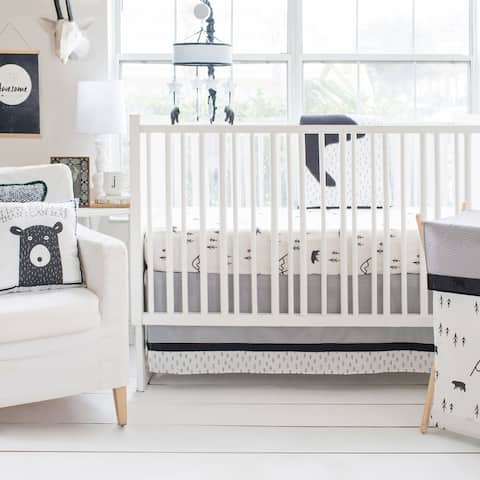 Little Black Bear 3pc Crib Bedding Set