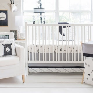 Little Black Bear 3pc Crib Bedding Set