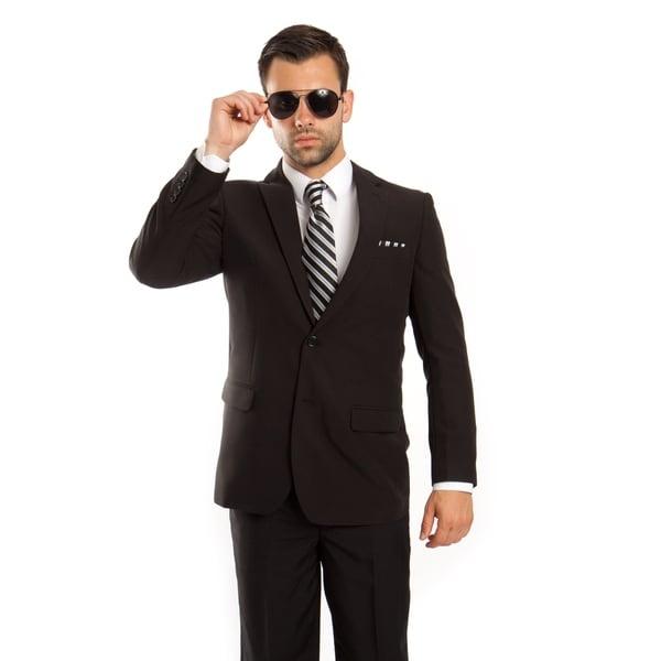 Mens Suit Notch Lapel Suit Set with Tailored Fit