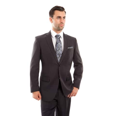 Mens Suits 2 Pcs. Solid Modern Fit 2 Button Herringbone Suits