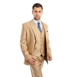 Mens Suit Notch Lapel with Solid Texture Suit Set