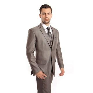 Mens Suit Notch Lapel with Solid Texture Suit Set