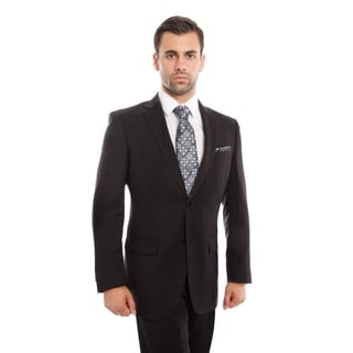 Link to Mens Suits 2 Pcs. Solid Modern Fit Two Button  Herringbone Suit Similar Items in Suits & Suit Separates
