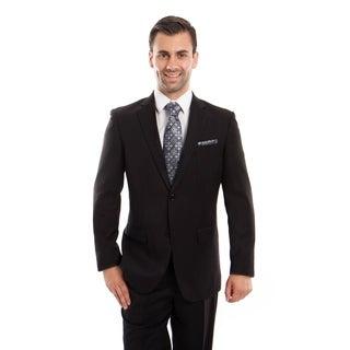 Mens Suit Notch Lapel Suit with Solid Herringbone