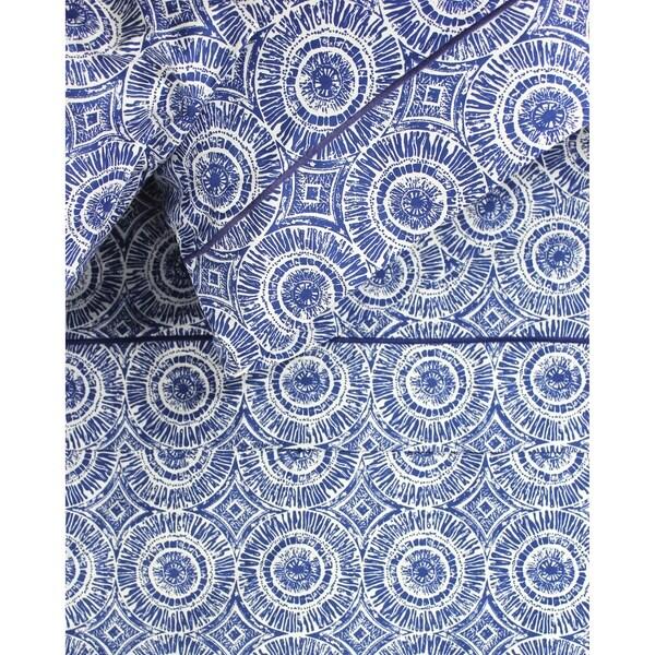 Printed Design Cotton Collection 400 TC Blue Medallion Sheet Set