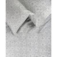 Printed Design Cotton Collection 400 TC Grey Medallion Sheet Set