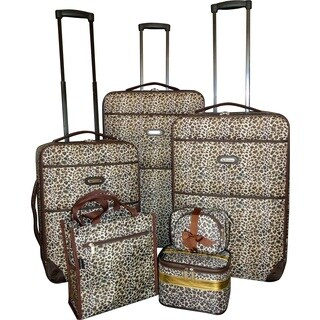 Karriage-Mate Leopard 7-piece Expandable Luggage Set