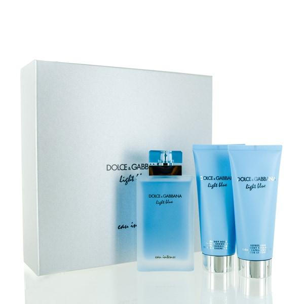 384aa01b1d11b Shop Dolce   Gabbana Light Blue Eau Intense 3-piece Gift Set - Free  Shipping Today - Overstock - 19985041