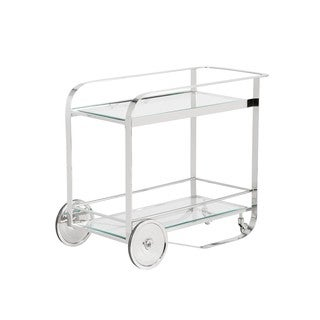 Moncasa Darcy Stainless Steel Wheels Bar Cart