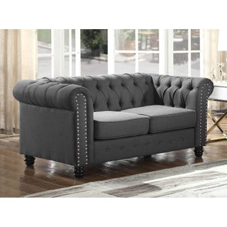 Best Master Furniture Tufted Upholstered Loveseat