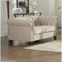 Best Master Furniture Tufted Upholstered Loveseat
