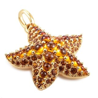 Sirene Rose Gold Orange Gem Starfish Pendant M.A704/O7/OV