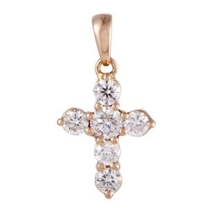 ~.30ct Tiny White Gold Diamond Tiny Cross Pendant
