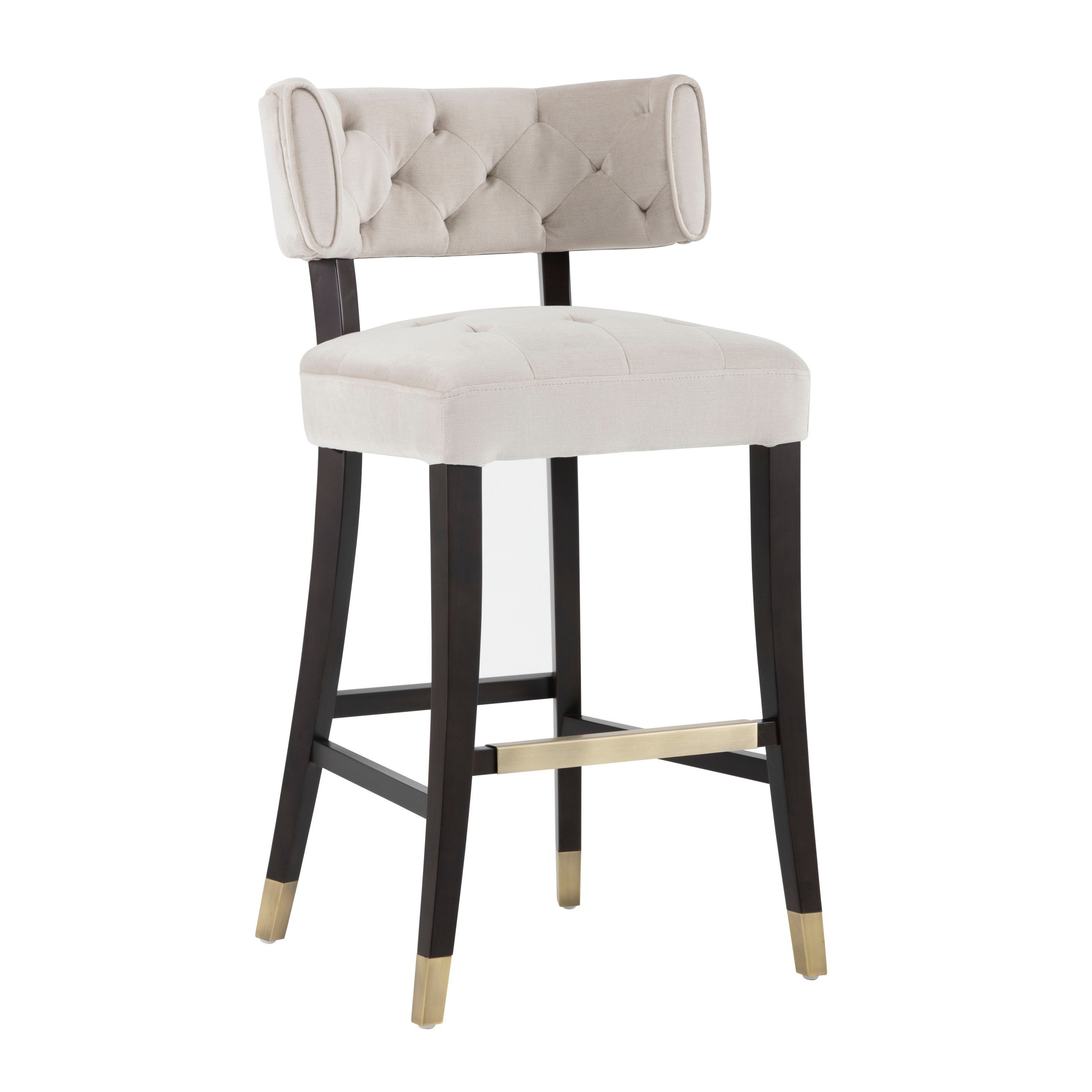 Cool 5West Tatum Champagne Tufted Barstool Dailytribune Chair Design For Home Dailytribuneorg