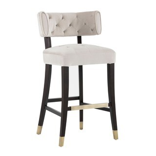 5West Tatum Champagne Tufted Barstool