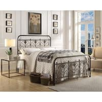 Avery Hand-painted Black Iron Bed